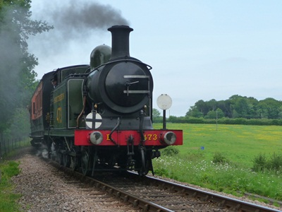 Train at Horsted Keynes House Farm