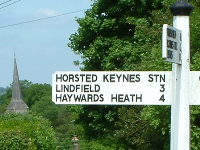 Sign Post Horsted Keynes Village
