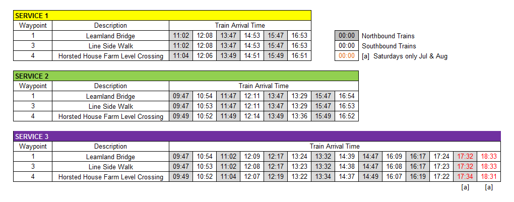 Horsted Keynes Station Walk Arrival Times