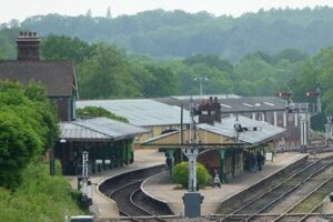 Horsted Keynes Station from Leamland Bridge