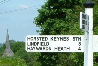 Sign post in Horsted Keynes Village