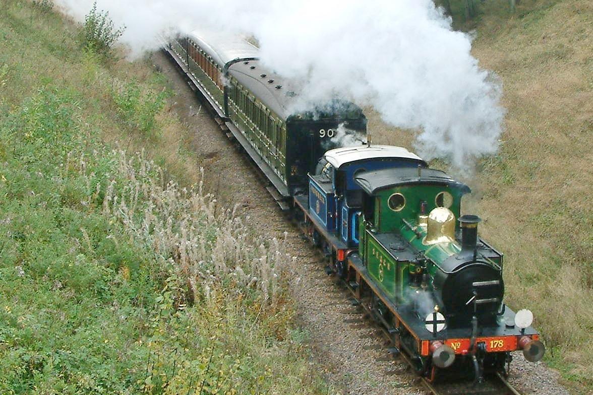 South Eastern and Chatham Railway Wainwright P-class, No.178 at Horsted House Farm Bridge