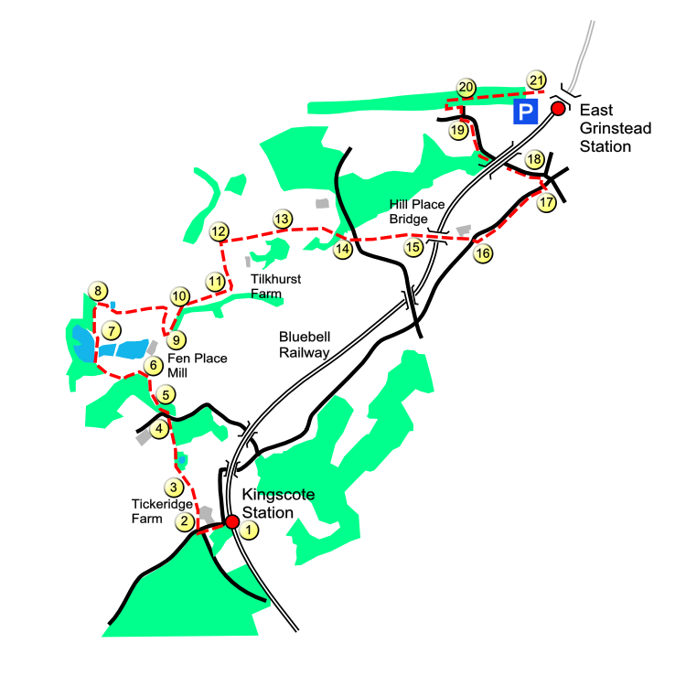 Kingscote North route map