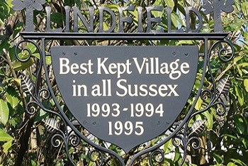 Lindfield Best Kept Village sign