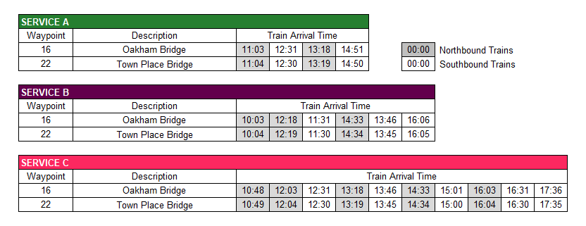 Scaynes Hill Timetable