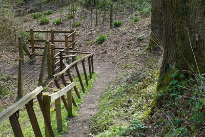 Footpath to Birch Farm foot crossing