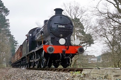 Southern Railway Maunsell Q-class No.30541 at Birch Farm foot crossing