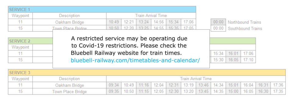 Covid-19 Service Restrictions