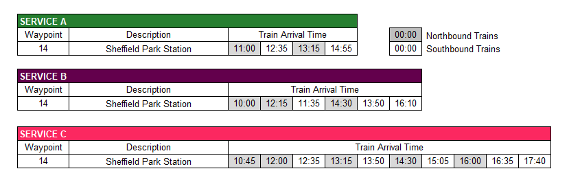 Chailey Common Timetable